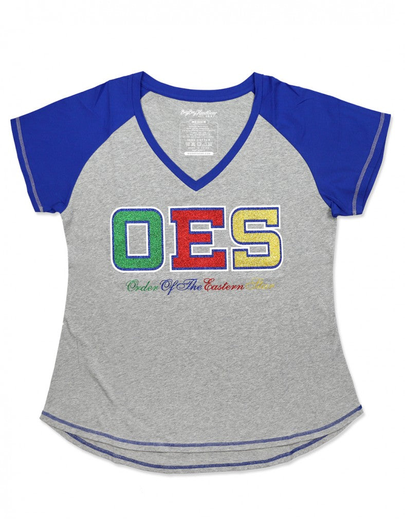 OES Royal Blue V-Neck TEE