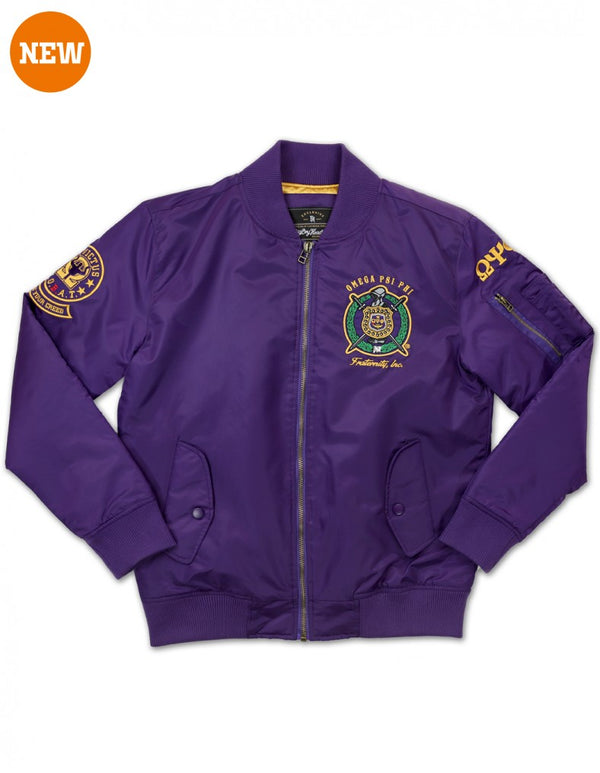 Fraternity Bomber Jacket - Omega Psi Phi -Greek_Paraphernalia - M3 Greek