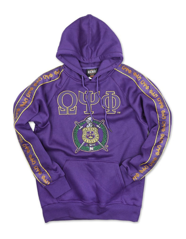 Fleece Hoodie - Omega Psi Phi -Greek_Paraphernalia - M3 Greek