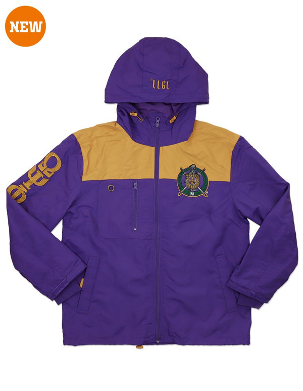 Omega All Weather Windbreaker Jacket- Omega Psi Phi -Greek_Paraphernalia - M3 Greek