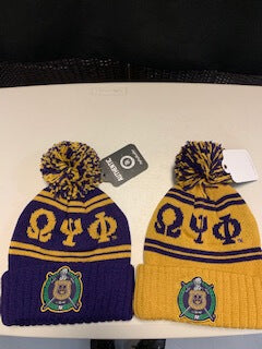 Pom Pom Beanie - Omega Psi Phi -Greek_Paraphernalia - M3 Greek