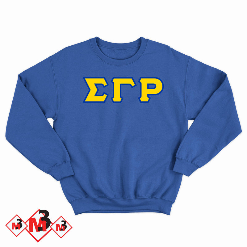 Twill Letter Sweatshirt- Sigma Gamma Rho -Greek_Paraphernalia - M3 Greek