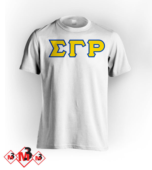 Twill Letter Tee - Sigma Gamma Rho -Greek_Paraphernalia - M3 Greek