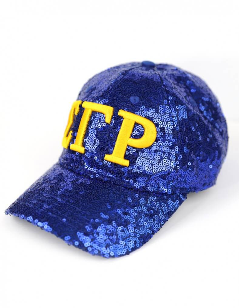 Sequin Cap - Sigma Gamma Rho®️ -Greek_Paraphernalia - M3 Greek