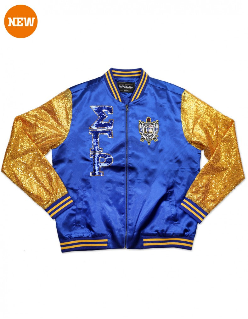SGR SEQUIN JACKET - Sigma Gamma Rho -Greek_Paraphernalia - M3 Greek
