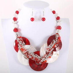 Red/White Shell Necklace