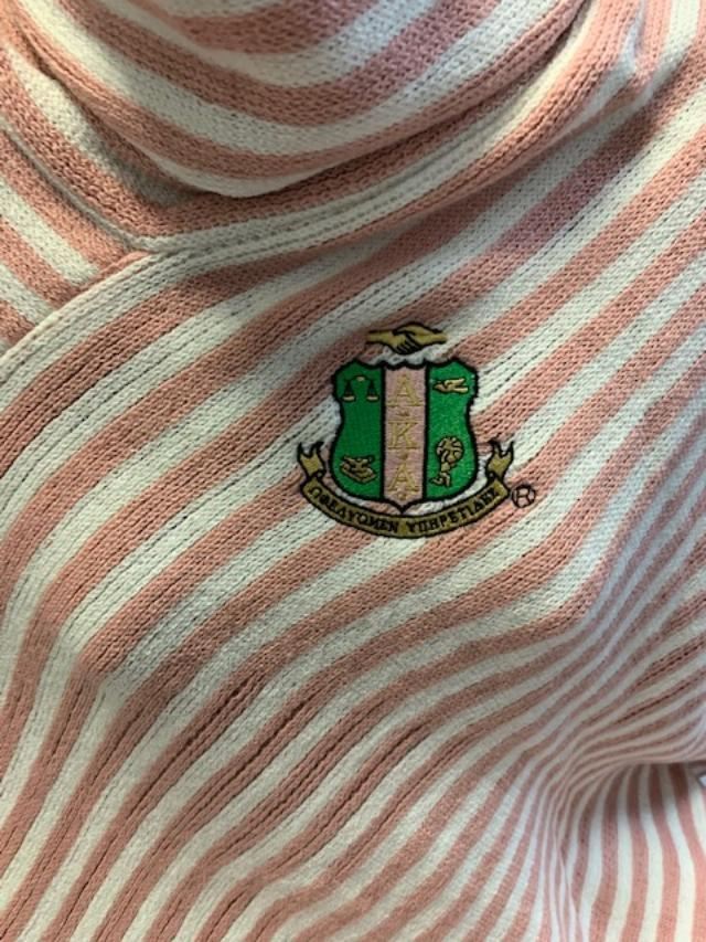 Custom Crest Embroidered Shawl - Alpha Kappa Alpha®️ -Greek_Paraphernalia - M3 Greek