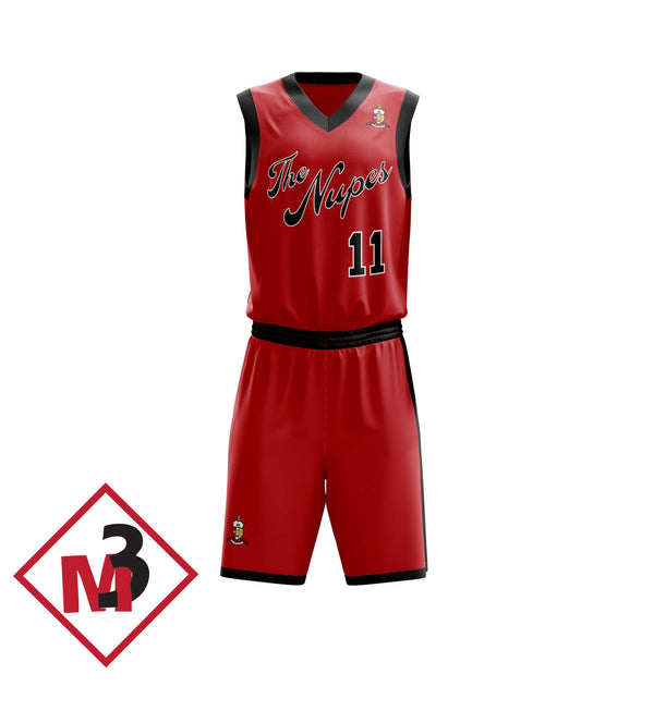 Nupes Basketball Jersey & Shorts -Kappa Alpha Psi -Greek_Paraphernalia - M3 Greek