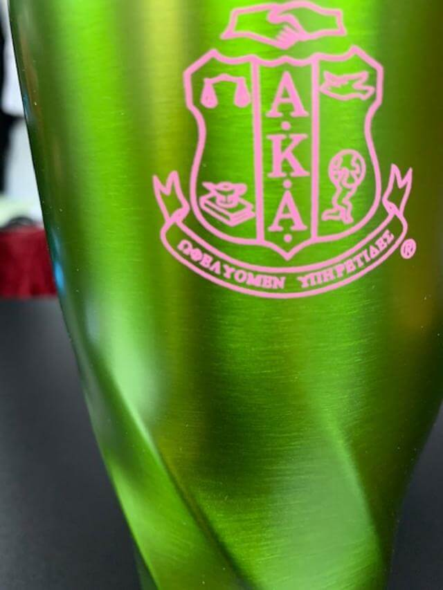 Vacuum Sealed Tumbler - Alpha Kappa Alpha®️ -Greek_Paraphernalia - M3 Greek