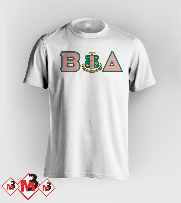 Twill Letter - Where You From Tee - Alpha Kappa Alpha™ -Greek_Paraphernalia - M3 Greek