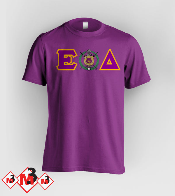 Twill Letter - Where You From Tee - Omega Psi Phi - M3 Greek