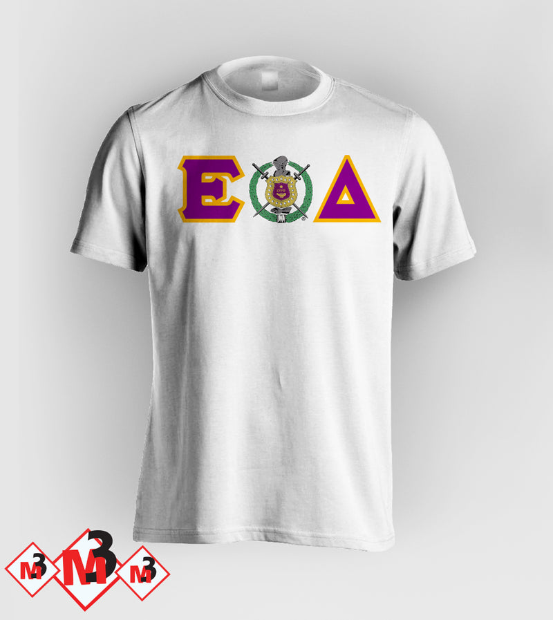 Twill Letter - Where You From Tee - Omega Psi Phi -Greek_Paraphernalia - M3 Greek