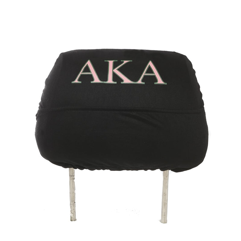 Car Head Rest Covers - Alpha Kappa Alpha®️ -Greek_Paraphernalia - M3 Greek