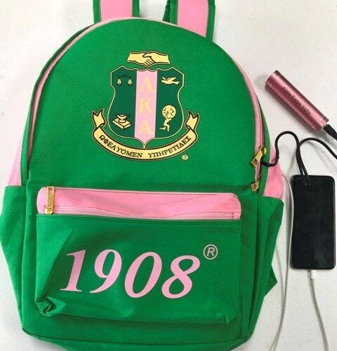 USB Port Book bag - Alpha Kappa Alpha®️