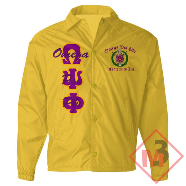 Crossing Jacket - Omega Psi Phi®️ -Greek_Paraphernalia - M3 Greek