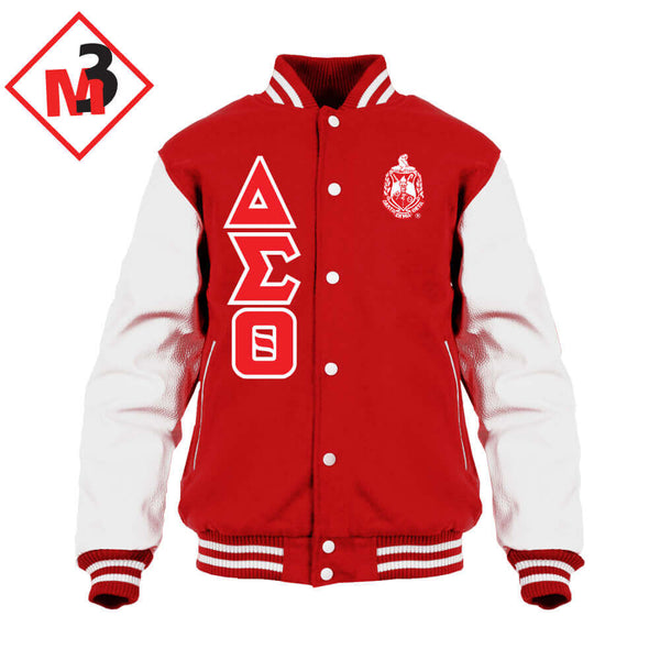 Varsity Letterman Jacket- Delta Sigma Theta®️ -Greek_Paraphernalia - M3 Greek