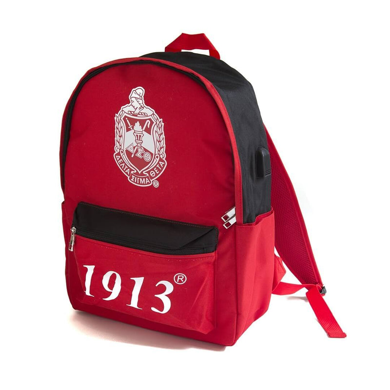 USB Port Book bag -Delta Sigma Theta®️ -Greek_Paraphernalia - M3 Greek