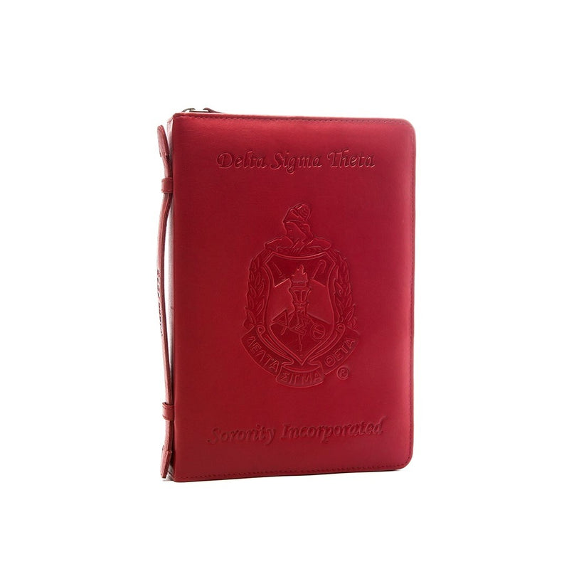 """The Deluxe"" Embossed Leather Ritual Cover - Delta Sigma Theta®️ -Greek_Paraphernalia - M3 Greek"