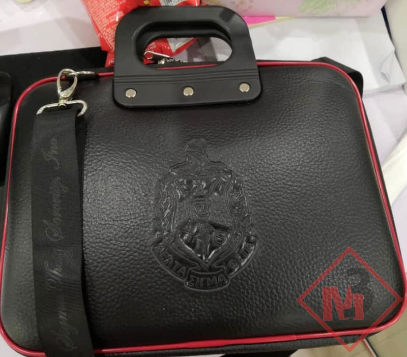 Embossed Leather Computer/ipad Case- Delta Sigma Theta® 12 / Black Accessories