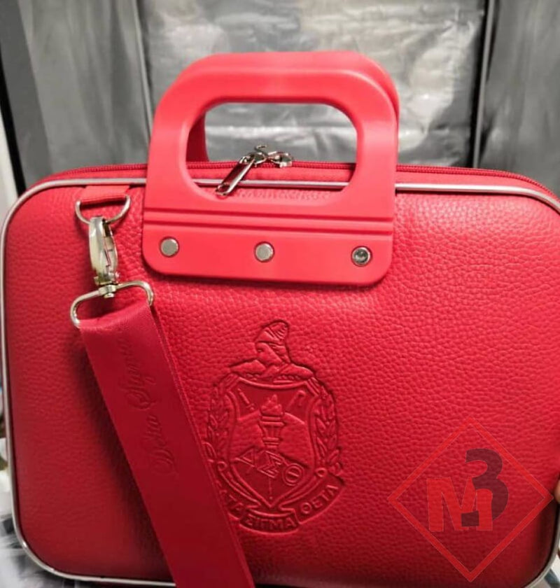 Embossed Leather Computer/ipad Case- Delta Sigma Theta® 12 / Red Accessories