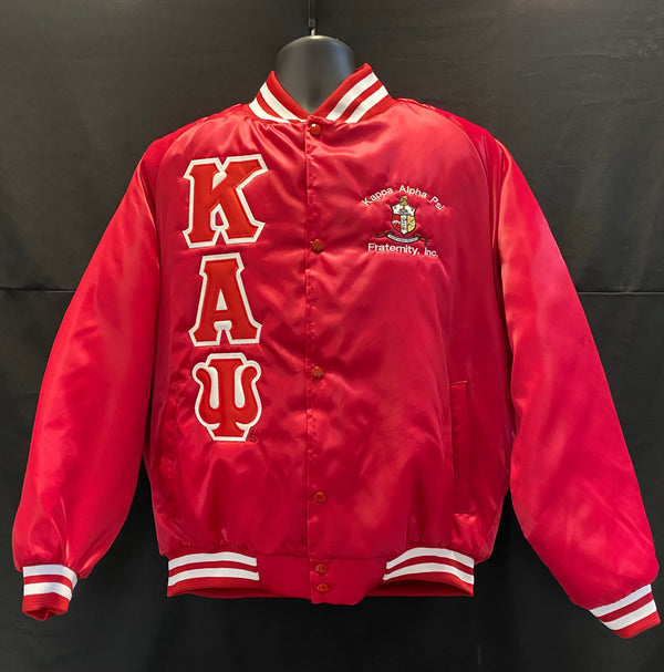 Satin Baseball Jacket - Kappa Alpha Psi -Greek_Paraphernalia - M3 Greek