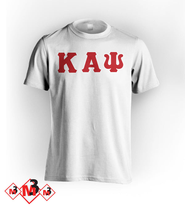 Twill Letter Tee - Kappa Alpha Psi -Greek_Paraphernalia - M3 Greek