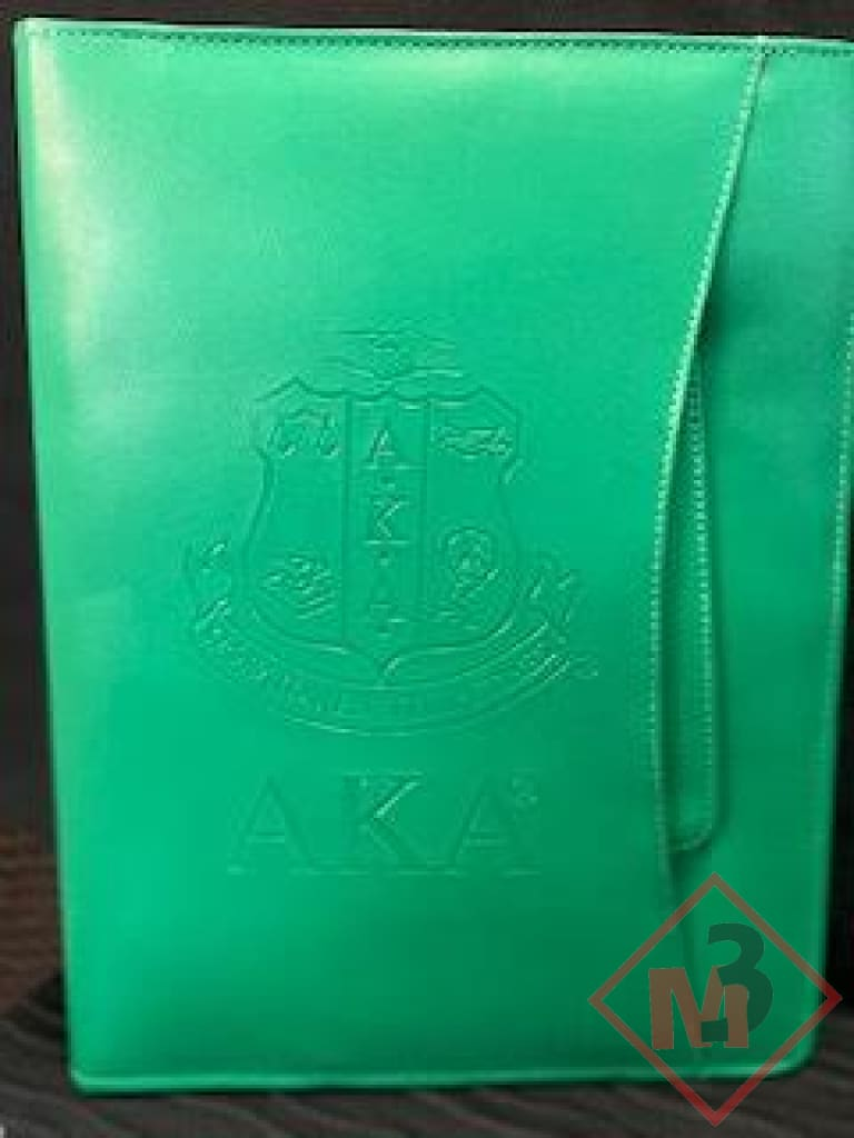 Leather Like Sorority Portfolio With Handles Accessories