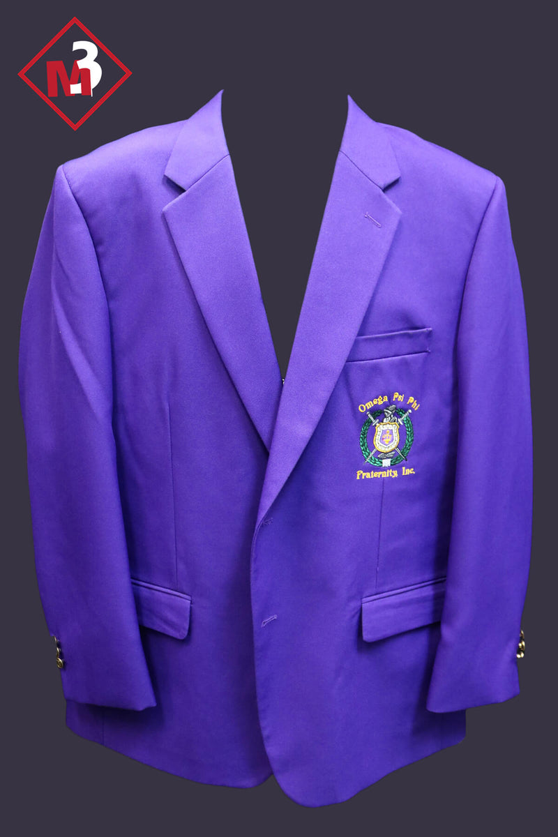 Purple - Omega Psi Phi Fraternity Blazer -Greek_Paraphernalia - M3 Greek