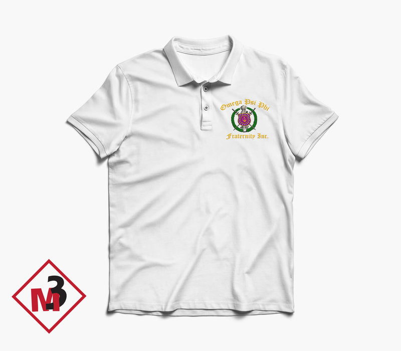 Crest Polo - Omega Psi Phi -Greek_Paraphernalia - M3 Greek