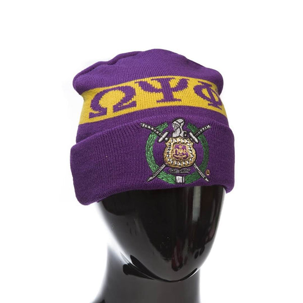 Coat of Arms Beanie - Omega Psi Phi -Greek_Paraphernalia - M3 Greek