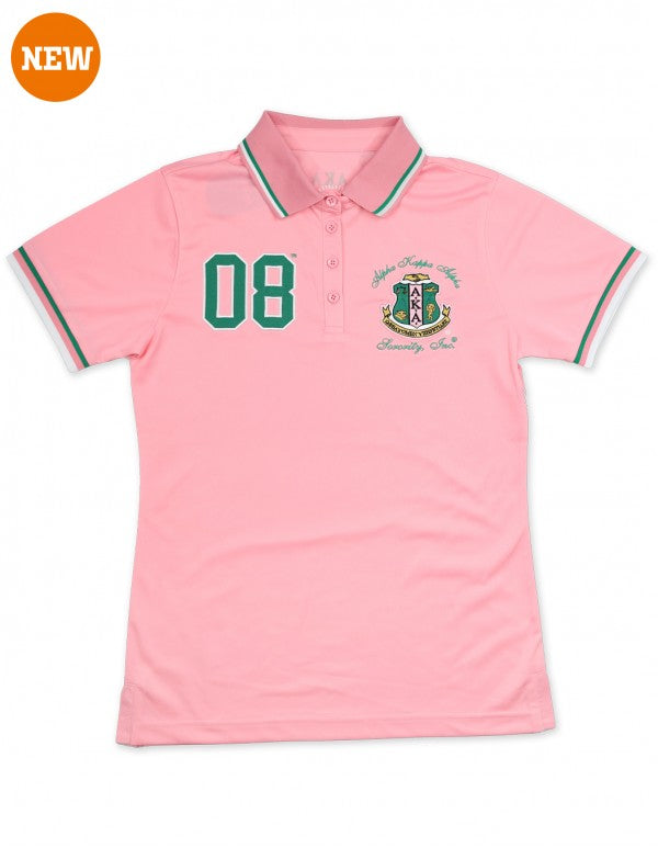 AKA Polo Shirt - Alpha Kappa Alpha®️ -Greek_Paraphernalia - M3 Greek