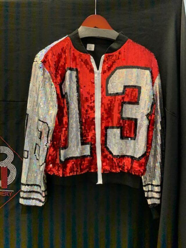 Sequin zip front jacket  - Delta Sigma Theta®️ -Greek_Paraphernalia - M3 Greek