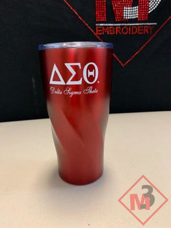 Vacuum Sealed Tumbler - Delta Sigma Theta®️ -Greek_Paraphernalia - M3 Greek