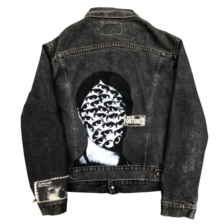 """Tortured"" denim jacket"