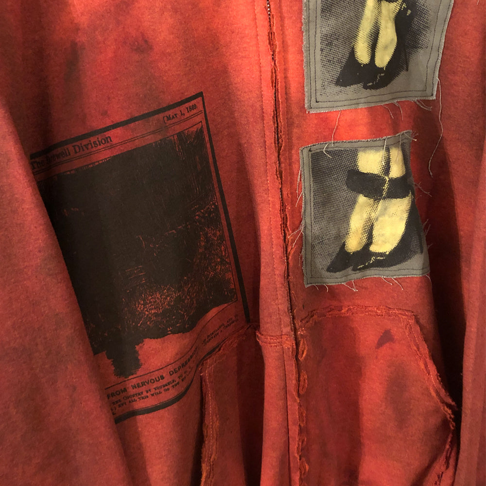 Blood Orange Patched Hoodie