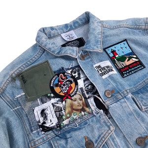Artist Series: DARKWORLD Denim Patchwork Jacket