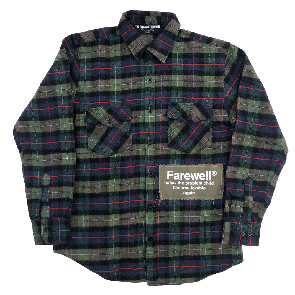 """Problem Child"" Olive Flannel"