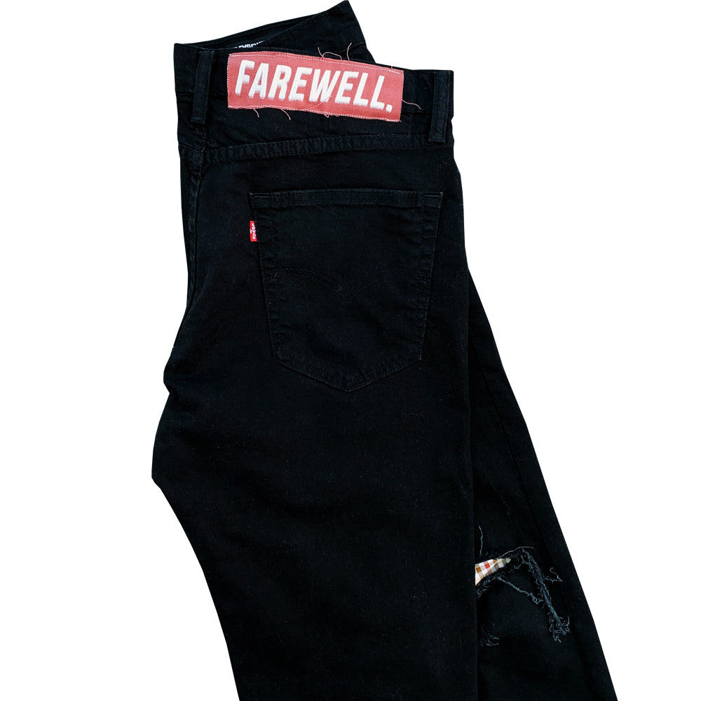 """Acetate"" Black Denim"