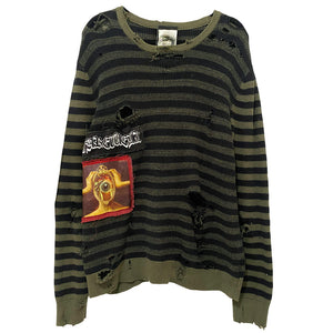 """ammonia"" destroyed sweater"