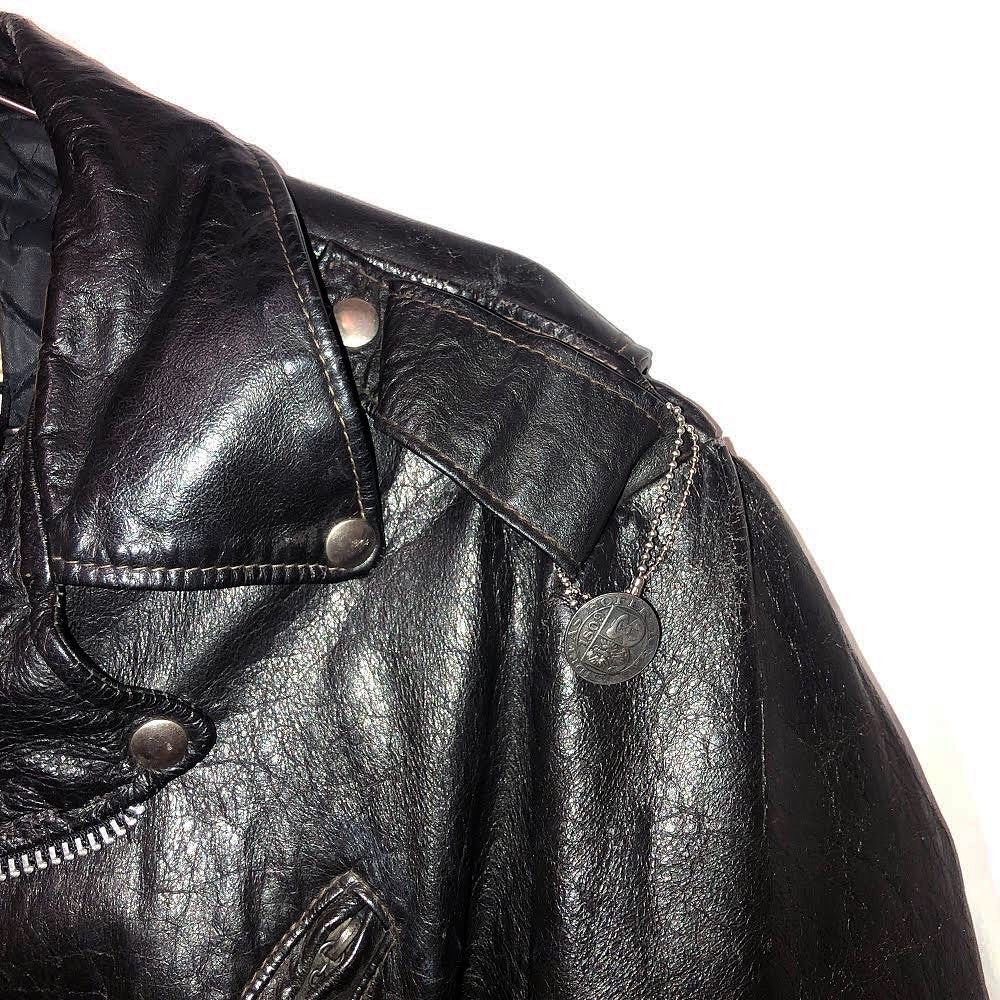 """corruption"" vintage leather rider jacket"