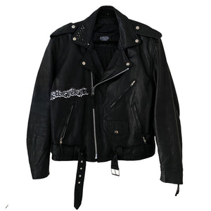"""ammonia"" vintage leather jacket"