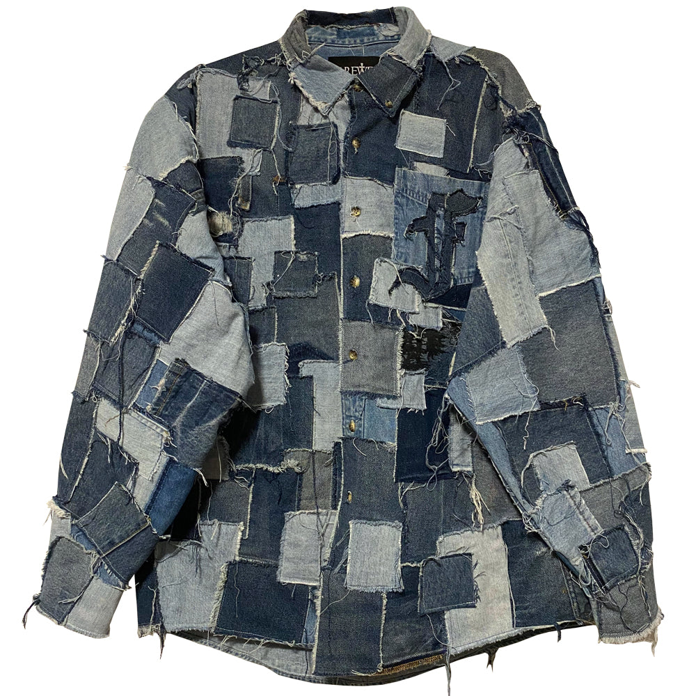 Complete Patched Denim Over-Shirt