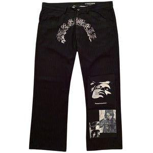 """Pinstripe Patched Trouser"""