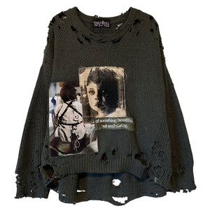 Whitley Heights Suicide Distressed Sweater