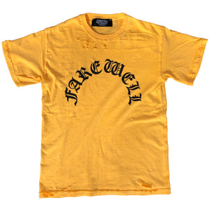 """Arch Logo"" Distressed Butter Tee"