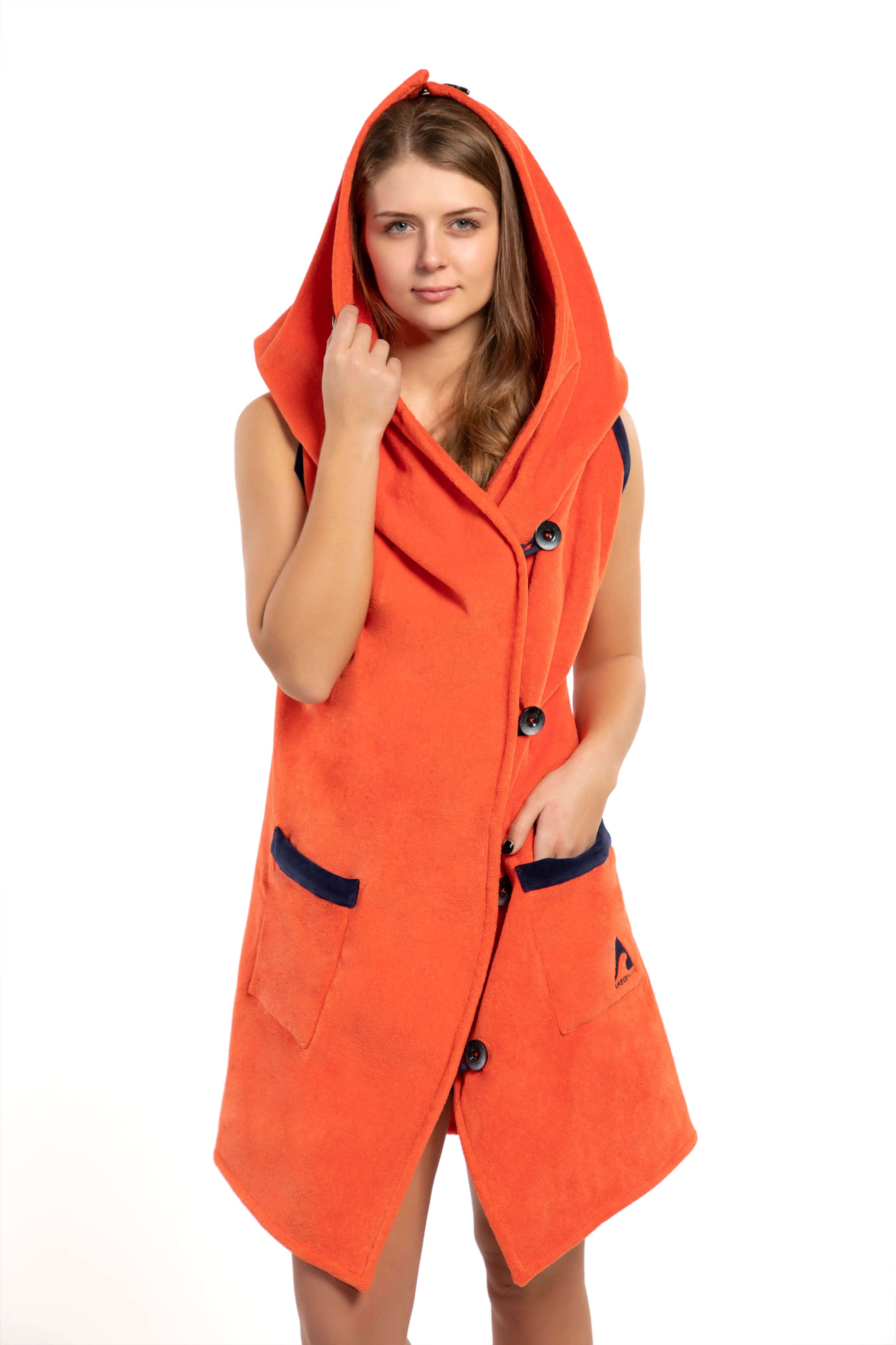 AMBER Wearable Towel - Sunset Orange