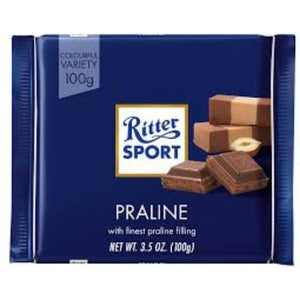 Ritter Sport Milk Chocolate with Praline 100g