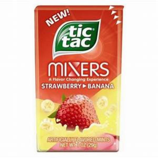 Tic Tac Mixers Strawberry Banana