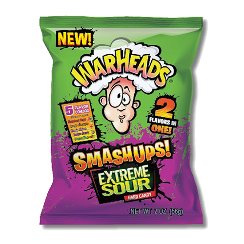 Warheads Smashup! Extreme Sour Hard Candy Bag