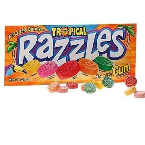 Razzles Tropical  Gum 40g